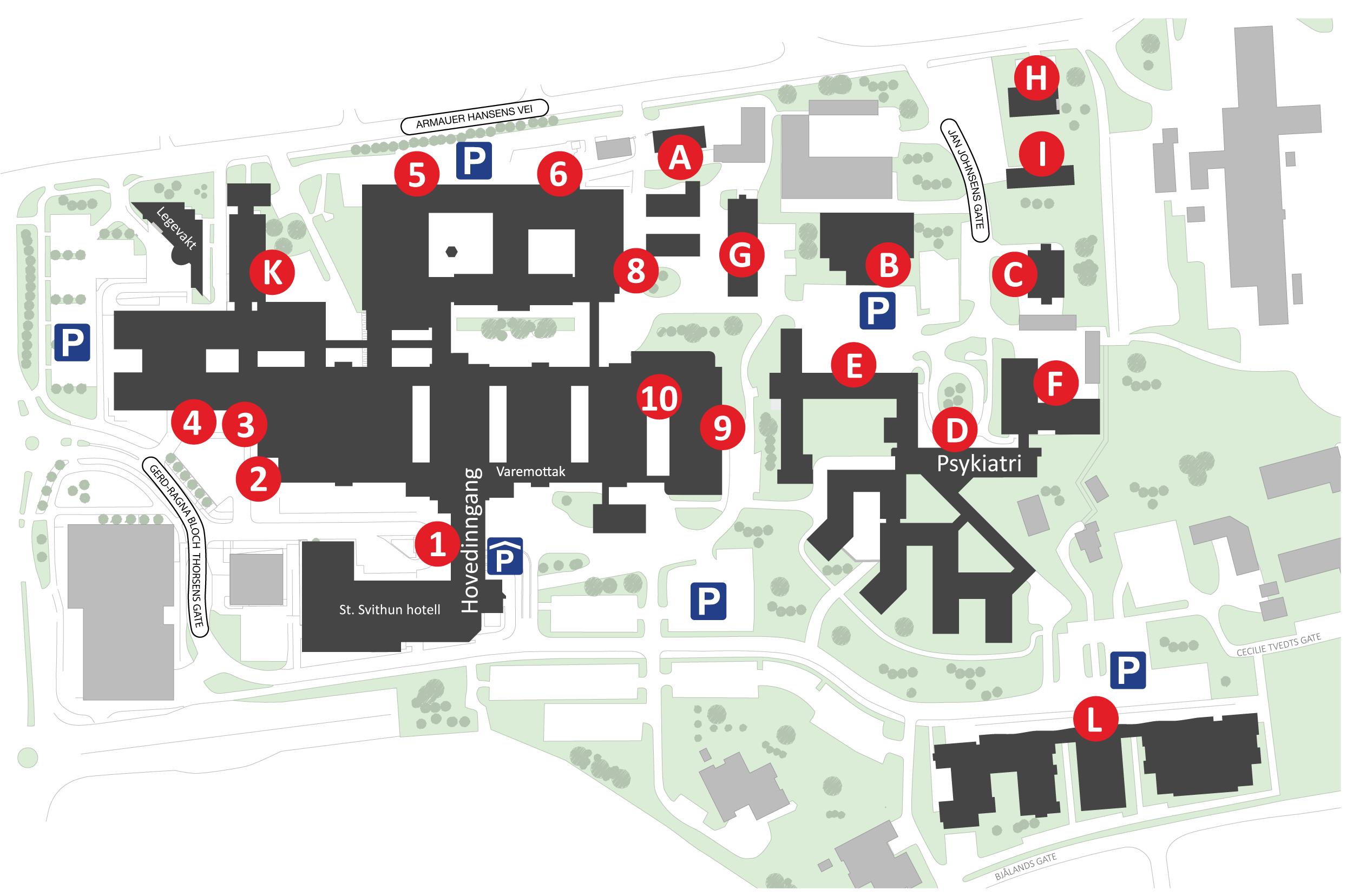 kart over uis Kart   Helse Stavanger kart over uis